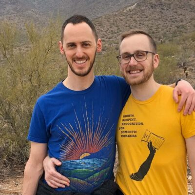 On a December hike in Scottsdale, AZ (it was warmer than we expected!)