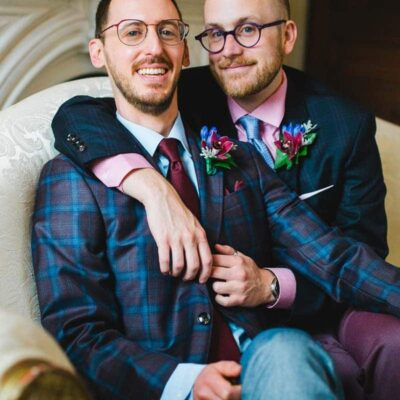 Matching boutonnieres in Watertown, MA