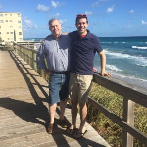 Andrew and his dad on Thanksgiving Day in Palm Beach, FL