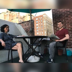 Summer evenings on our rooftop patio (in our previous NYC home)