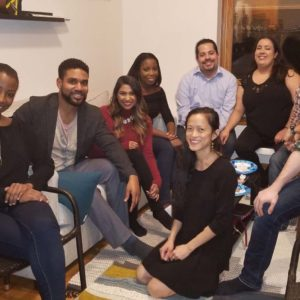 One of our smaller Friendsgiving parties with Tiana's close college friends