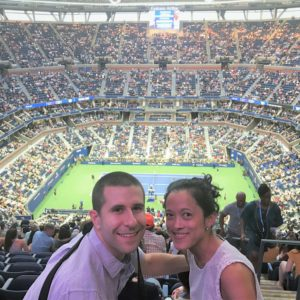 Tiana's first time at the US Open in NYC to share Andrew's love of tennis
