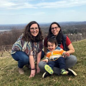 Katya's sister, Antonia, with Becca and Sami in the Hudson Valley