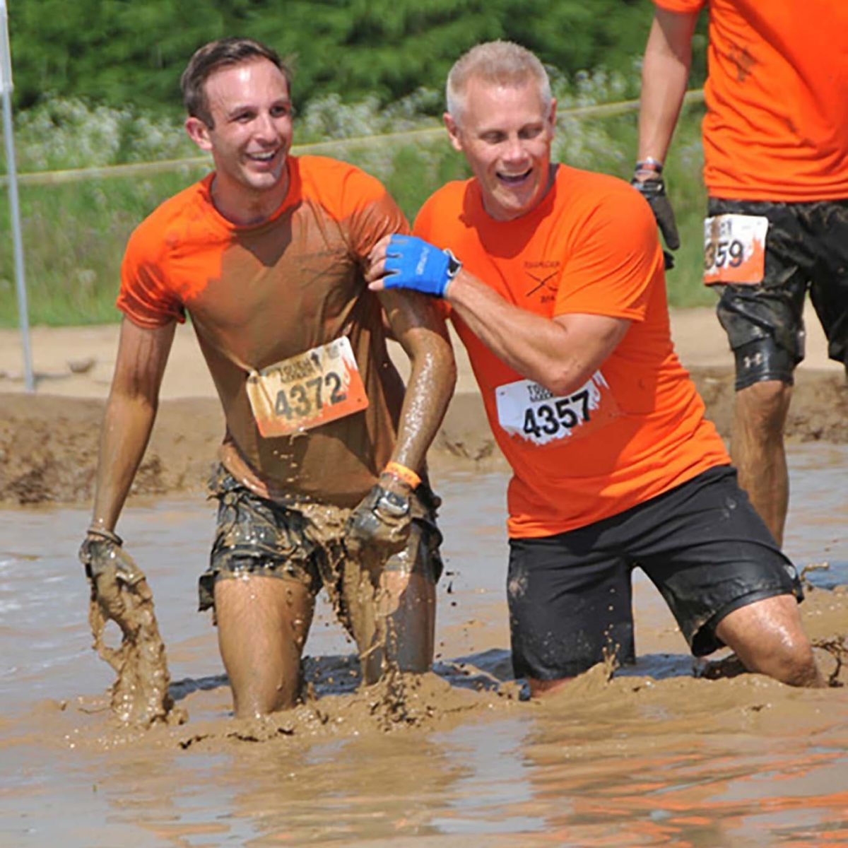 Tough Mudder with brother Justin and friend Paul