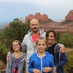The four of us on a family trip to Sedona, AZ. It was so beautiful there!