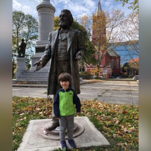 Learning about local hero Frederick Douglass after church