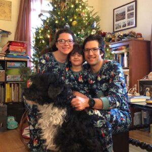 No better way to celebrate Christmas than in matching family jammies