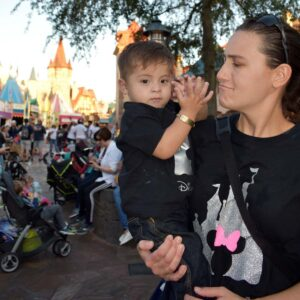 Clapping away at Disney Land in Florida with nephew Mateo