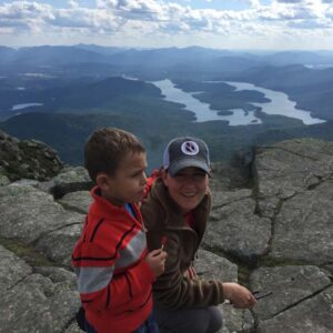Taking in the view of the Adirondacks and a summit treat after a hike up Whiteface Mountain in Lake Placid, NY with nephew Raphael