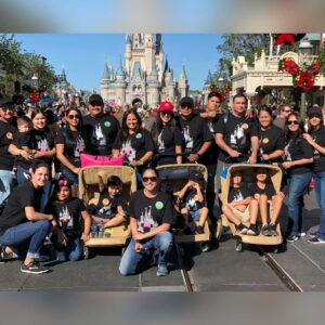 Savoring a rare full family vacation with all of Cindy's family at Disney Land, FL