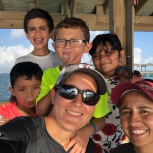 Taking a time out to fish in Port Isabel, TX with the niece and nephews