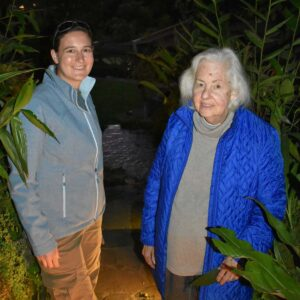 Wandering the paths around Machu Picchu after dark with Tina's mother Bonisa