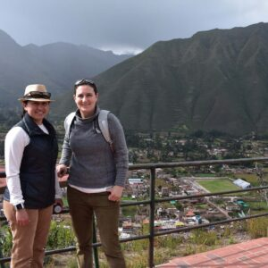 Taking in the view above the Sacred Valley in Peru