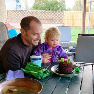 Doug is celebrating a birthday with his niece