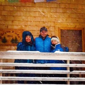 We love to take trips with Doug's mom. This was a ski trip to a small cabin in Vermont