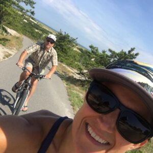 One of our favorite things to do is ride bikes. This was at Cape Cod National Seashore
