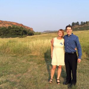 At our friend's outdoor wedding in Fort Collins, Colorado