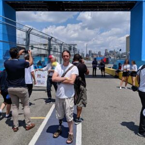 Jason at the NYC EPrix Red Hook, Brooklyn. He loves electric cars!