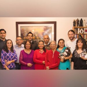 The time we managed to get the entire family in a photo at our home!