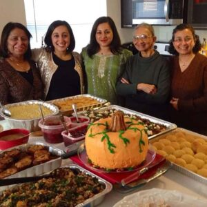 All the cooks of our Thanksgiving Feast! Samina with her mother, grandmother, sister, and sister's mother-in-law Philly, PA