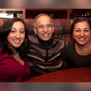 Family dinner at a local restaurant with Samina's father & sister