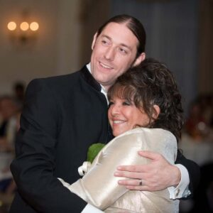Jason dancing with his mother at our wedding