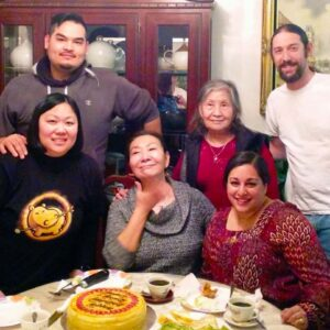 Celebrating three January birthdays with best friend Danny and his family!