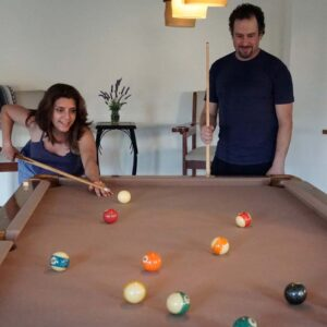 Our Los Angeles home came with a newly discovered hobby! We really enjoy playing pool