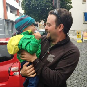 Julian meeting his nephew Sammy for the first time in Germany