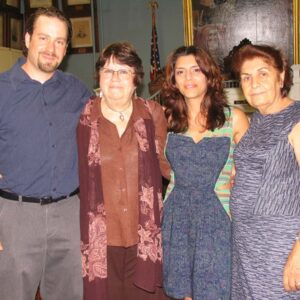Julian and his mom Channa with Juliet and her mom Arax