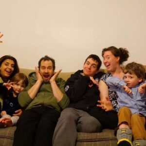 Being silly with our dear friends, Becca, Jason, and their children Chloe and Jacob