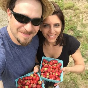 We love to go strawberry picking, yummy!