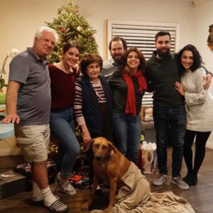 The two of us with Juliet's Cousin Viuolet and her family on Christmas Eve