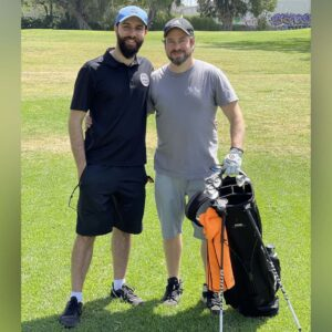 Julian's first time golfing with His Nephew Andre
