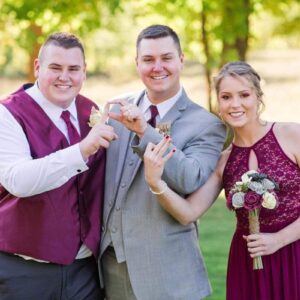 Parker with his siblings Pacey and Payton at our wedding!