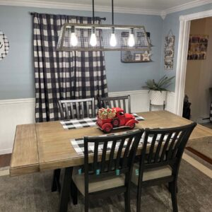 Our dinning room in our home in Plattsburgh, New York