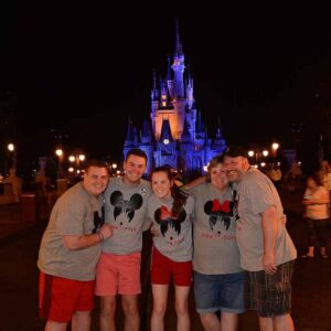 Parker with his siblings Pacey and Payton, and parents Kim and Ron at Walt Disney World in Orlando, Florida!