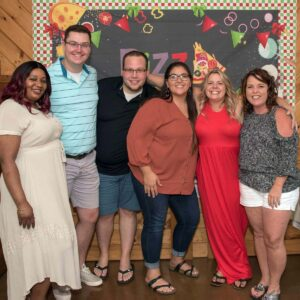 The both of us with our closest friend's Carlene, Brittney, Tanya, and Shawn at a birthday party in Port Kent, New York