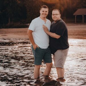 The two of us at the beach in Plattsburgh, New York!