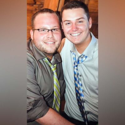 The both of us celebrating our brother and sister-in-laws vow renewal in Alexandria Bay, New York