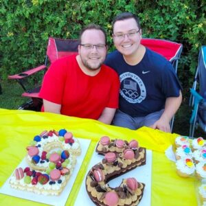 The two of us celebrating Parker's birthday this summer in Plattsburgh, New York!