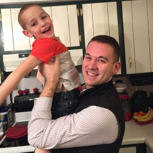 Brian with his nephew Hunter on Christmas Eve