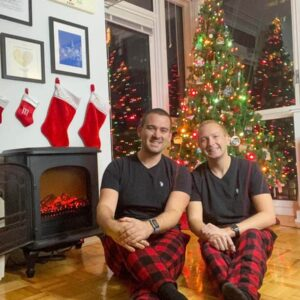 Christmas in our home (Yes, always matching pajamas!)
