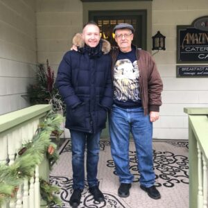 Visiting Rob's dad in Franklin, PA