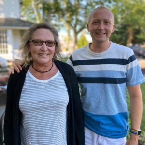 Rob and his mom, Lorna on a recent visit