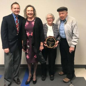 Celebrating Rob's grandmother's Lifetime Achievement Award in Clarion, PA