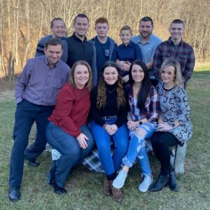 Brian's family photo at home in Hedgesville, WV