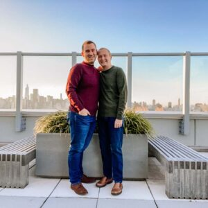 Autumn sunset on our rooftop in Long Island City