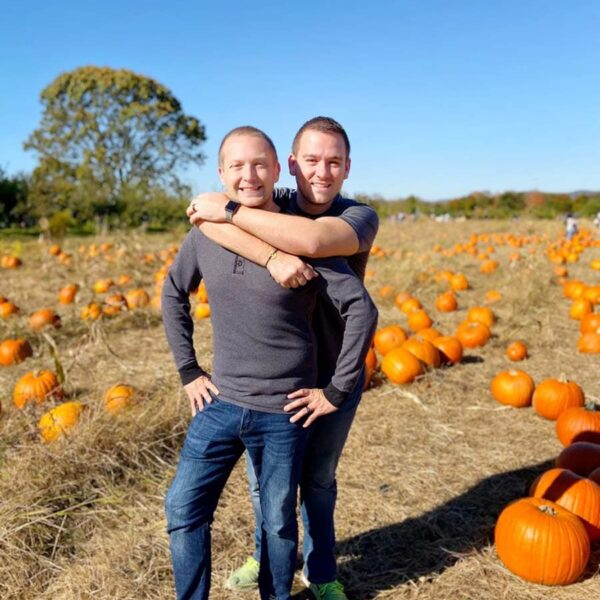 Visiting a pumpkin patch at Wilkins Farm in Upstate NY