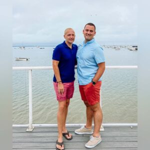 """Our """"annual"""" photo overlooking the bay in Provincetown, MA"""